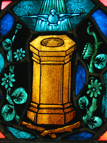 baptismal font stain glass window    SEPT.  2008 022