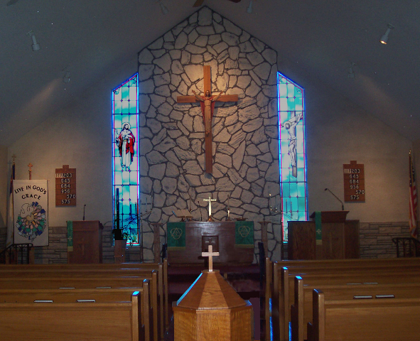 Altar 2008 with font in middle